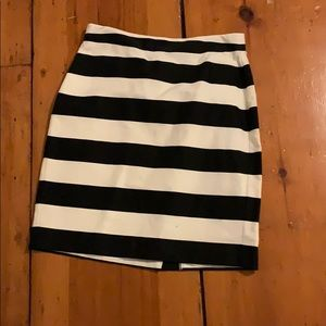 Banana Black & White Stripe skirt